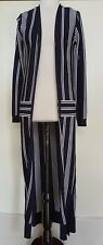 ASOS Navy/White Stripe Long Cardigan Size 6