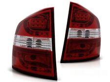 LED REAR TAIL LIGHTS LDSK03 SKODA OCTAVIA II ESTATE 2004 2005 2006- RED WHITE