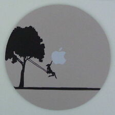 GIRL ON SWING GRABS APPLE FROM SKY Round MOUSE MAT PAD mousemat for Mac Macbook
