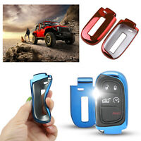 Soft TPU Remote Smart Key Fob Shell Cover Case For Jeep/Chrysler/Dodge 200 300