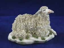 Vintage Sitzendorf Porcelain Figure Recumbent Sheep