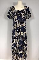 Hilo Hattie Hawaiian Floral Print Short Sleeve Shift Dress Women's Medium M