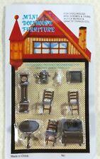 "Dollhouse Miniature 1/4"" Quarter Scale Furniture Table Chairs Clock Desk 1:48"