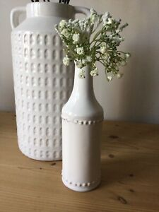 Ceramic Vintage White Vase Bottle Design Vase Flower Display
