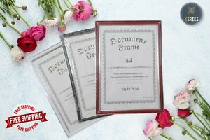 A4 Photo Frame White Picture Frame Poster Frames Document Certificate Walnut