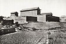 1934 Vintage 11x14 CHINA ~ Xi'an East Gate City Wall Architecture Landscape Art