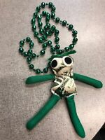 New Orleans Handmade Voodoo Doll Mardi Gras Necklace Money New Authentic