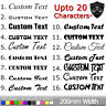 2x CUSTOM TEXT Personalised Name Lettering Car Van Window Decal Sticker Disney