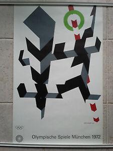 Original vintage Munich 1972 Olympic Games Poster Allan D'Arcangelo