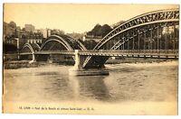 CPA 69 Rhône Lyon Pont de la Boucle et Coteau Saint-Clair