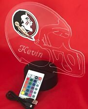 Florida State Seminoles NCAA College Light Up Lamp LED Remote Personalized Free