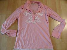FREESOUL schönes Poloshirt rosa mit Druck Gr. M ? TOP ZC216
