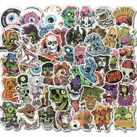 50Pcs Horror Stickers Skateboard Sticker Graffiti Laptop Luggage Decals Mix Lot