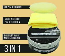 Momo's Garage ® Carnauba Politur + Wax mit SiO2 Versiegelung High End Schutz SET