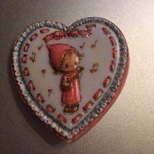 1973 Vintage Hallmark Lacy Valentine Heart Banjo Betsey Clark Lucite Brooch Pin