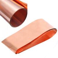 Kupferbleche Kupferplatte Roll im Zuschnitt Stäkren 0.2mm 100mm X 1000mm 99,9 %