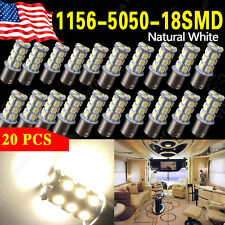 20x Natural White 1156 BA15S 18smd RV Turn Signal Backup Reverse LED Light Bulbs