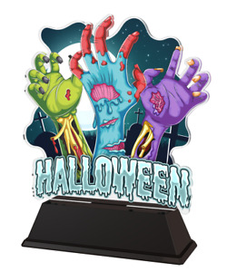 HALLOWEEN SPECIAL TROPHY GIFT AWARD ACRYLIC TROPHY *FREE ENGRAVING* 160mm *NEW*
