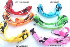 NTJ LED GLOW-IN-THE-DARK HARNESS dog pet night safety adjustable flash light up