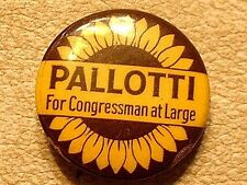 Vintage Pallotti For Congress Election Pin / Badge / Button