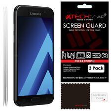 3 Pack TECHGEAR CLEAR Screen Protector Guards For Samsung Galaxy A3 2017 SM-A320