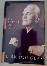 My Stroke Of Luck Kirk Douglas 1st Edition Signed Autographed Morrow Perfect