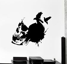 Wall Decal Skull Skeleton Raven Scary Ghotic Decor z3973