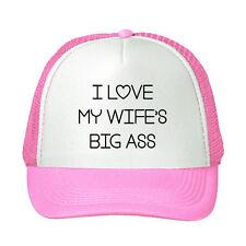 I Love My Wife'S Big Ass Funny Adjustable Trucker Hat Cap