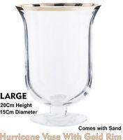 Hurricane Vase  Candle Holder Lantern Glass Storm Centrepiece Wedding Table 20cm