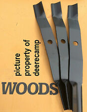 "Woods 72"" mower blades replaces part #13404 / 31306 Set/3 L306,RM306,RM600 more"