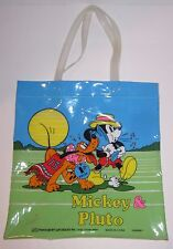 Disney Mickey Pluto -Small Clear Tote - By Monogram Products - Vintage