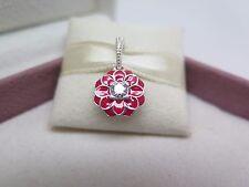 New w/Box & Tag Pandora Oriental Bloom  w/Enamel Dangle Charm #791829CZ