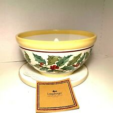 Longaberger Pottery ~ American Holly Large Serving Bowl