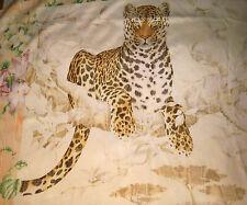 Salvatore Ferragamo Large Leopard Silk Scarf Wrap 83 x 87 cm SALE !