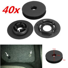 40pcs Car Carpet Clips Floor Mat Mounting Fastener Retainer Black ABS Universal