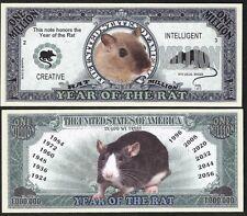 2020 Year of the Rat Million Dollar Bill Funny Money Novelty Note + FREE SLEEVE