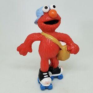 Vintage Elmo Paper Boy on Skates PVC Figure Sesame Street Applause Cake Topper