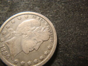 1896 F VF Barber Liberty Quarter Dollar AZX
