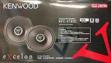 "*Kenwood Excelon KFC-X183C Custom Fit 280 Watts 2-Way 6.5"" Car Speakers"