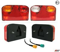 Pair Of 12v Rear Tail Lights Lamps 7 Functions Trailer Caravan Truck Lorry Emark