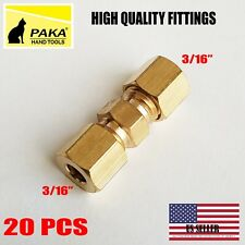 """20 PC - 3/16"""" UNION COMPRESSION FITTINGS BRASS, WHOLESALE PRICE"""