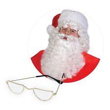 Babbo Natale Babbo Natale Parrucca, barba, baffi, mezza luna Occhiali Costume