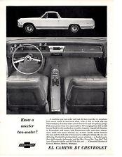 1966 CHEVROLET EL CAMINO - UP TO 360 HORSES ~ ORIGINAL MUSCLE CAR AD