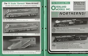 catalogo - Rivista OVERLAND MODELS MAIL OMI Bulletin 113 1996   bb