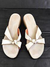 ROCKPORT DMX Beige Tan Leather Sandals WOMENS 8M Slides Shoes