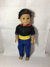 """Navy Sailor Man Costume Fits 18"""" American Boy Girl Doll Outfit Top Pants"""