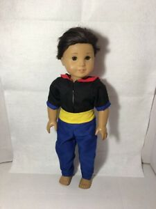 "Navy Sailor Man Costume Fits 18"" American Boy Girl Doll Outfit Top Pants"