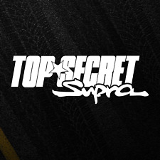 TOP SECRET Toyota Supra Sticker JDM Decal Logo Japan 2JZ MKIV Tuning Decal
