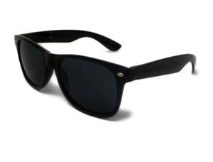 Classic BLACK Sunglasses Mens Ladies 80s Retro Fashion UV400