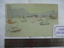 Hong Kong Period original artwork by SLADE ARTIST Harold Duke Collison-Morley q